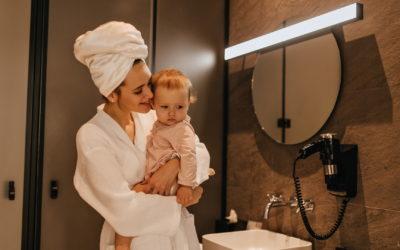 Wohin mit Baby beim Duschen oder: Wo Baby ablegen?