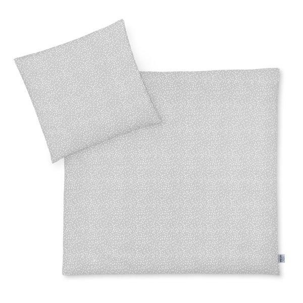 Bettwäsche 80x80 Tiny Squares Grey