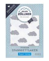Spannlaken Doppel-Jersey 60x120 - 70x140 Clouds Grey