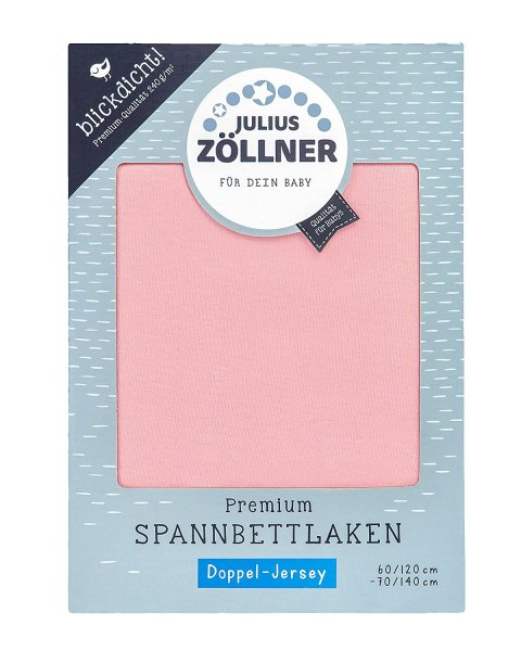 Spannlaken Doppel-Jersey 60x120 - 70x140 Blush