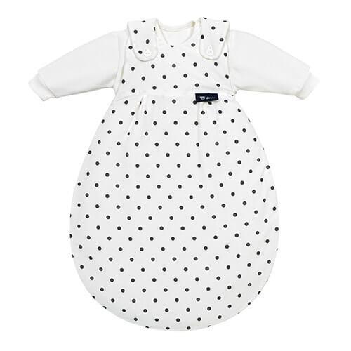 Baby-Mäxchen 3tlg. Dot Weiß 50/56