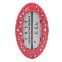 Badethermometer Oval Beerenrot
