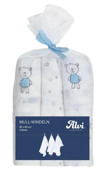 Mull Windeln 3er Best Friends Blau