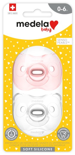 Baby Soft Silicone 0-6 DUO hellrosa & transparent