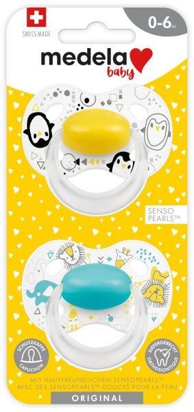 Baby Original 0-6 DUO gelb & türkis
