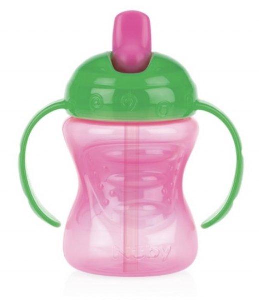 Trinklerntasse 240ml Grün/Pink