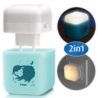 2in1 SleepLight Himmelblau