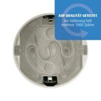 Steckdosenschutz, klebbar, 10 Stück, transparent