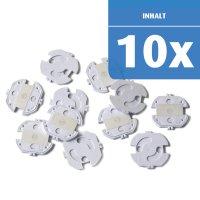 Steckdosenschutz, klebbar, 10 Stück, Weiß